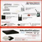 NAS Wireless Network Airstaton, Nfiniti, USB Adapter, MediaStation, DVD Portable Drive, External Storage