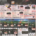 Canon Digital Cameras DSLR EOS 1100D, EOS 60D, EOS 550D, EOS 70D, EOS 600D, Legria Video Camcorder HF G10, HF S30, HF M41, HF M400, HF R89, HF R26, FS46, FS406