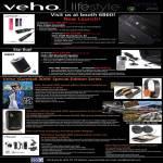 Veho Pebble Smartstick Battery, Saem Bluetooth, 360 Bluetooth Speaker, USB Microscope, Gumball 3000 Headphones, Muvi HD Pro, Muvi Gumball 3000 Camcorder, 360 Portable Speaker