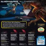 Notebooks Alienware M11X-2545DG-W7P, M14X-267451G-W7P, M14x-267673G-W7P, M17X-286871G-W7P