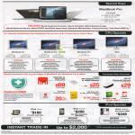 Apple Macbook Pro Notebooks, Macbook Air, Macbook Pro, IMac AIO Desktop PC, EpiGuard, Upgrades, IPod Nano, IPod Touch, IPod Classic