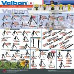 Velbon Tripods, Sherpa, Ultra, Carbon Fibre, Aluminium Alloy Monopods, Carbon Fibre Monopods, Table Pods, CX, EX