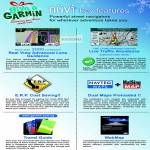 GPS Nuvi Features, Real View Advanced Lane Guidiance, Live Traffic Avoidance, Navteq Maps, MalSing