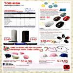 Toshiba Dynadock Universal USB Docking Station, Wireless Optical Mouse W25, W20, Pala-Chan, Papu-Chan, Kujiran USB Flash Drive
