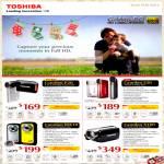 Toshiba Video Camcorder Camileo P20, S30, BW10, X100