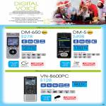 Digital Voice Recorders DM-650, DM-5, VN-8600PC