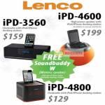 Orange Lenco IPod IPhone Docking Station, IPD-3560, IPD-4600, IPD-4800