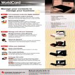 WorldCard Business Card Reader Scanner Features