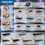 Glee Netbook UW3, LCD TV Monitor PR01612W, PRO1912W, PRO2216TW, Router, USB Adapter Nano, 3G, Switches, Gigabit