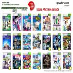Microsoft Xbox 360 Kinect Games, Dance Central 2, Rayman, Powerup Heroes, Michael Jackson, Sonic, Sports