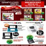 Nintendo 3DS Console, DS Lite, Mario Kart, Super Street Fighter IV, Zelda Ocarina, Super Mario Land, Cooking Mama 3D