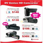 Video Camcorder DV Genius HD DVGenius 1000, 3000, 5600, 6000X