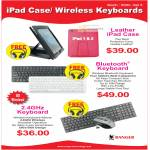 IPad Leather Case, Bluetooth Keyboard, Wireless Keyboard