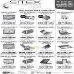 SITEX 2011 Daily Special Deals
