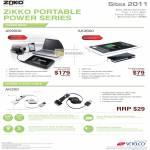 Zikko Portable Power Charger, AK9000, AK3600, AK200