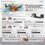 Blu-Ray Home Theatre System BDV-E380, BDP-S485, BDP-S380, Midi DVD Player DVP-SR750HP, DVP-SR320, DVP-SR120