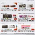 Digital Cameras Cybershot DSC W510, W530, H70, WX30, TX10, TX55