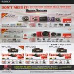 Digital Cameras Cybershot DSC-WX7, NEX-C3, Video Camcorder HDR PJ10, PJ30, PJ50