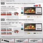 TV HX Series, NX Series KDL-55HX925, KDL-46HX925, KDL-60NX720, KDL-55NX720, KDL-46NX720, KDL-40NX720