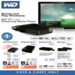 External Storage WD TV Live Streaming Media Player, Portable, Desktop, Play, TV Live