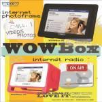 Internet Digital Photo Frame WOWBox 08, Internet Radio WOWBox 35