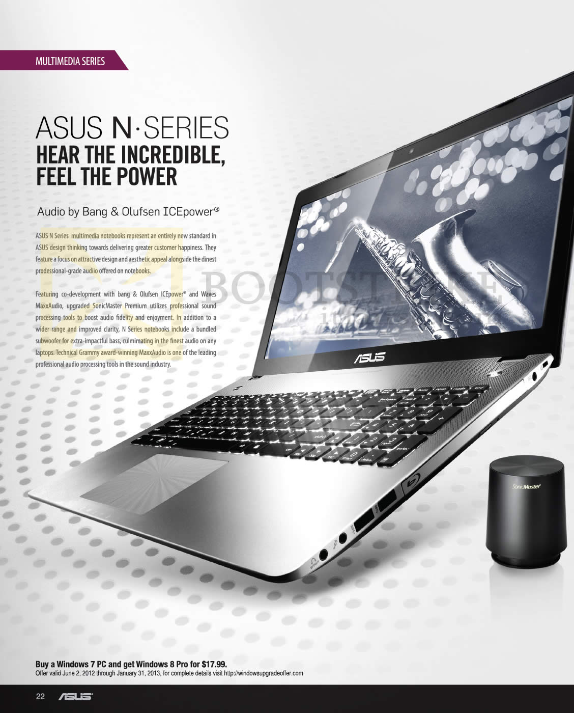 SITEX 2012 price list image brochure of ASUS Notebooks N Series Features