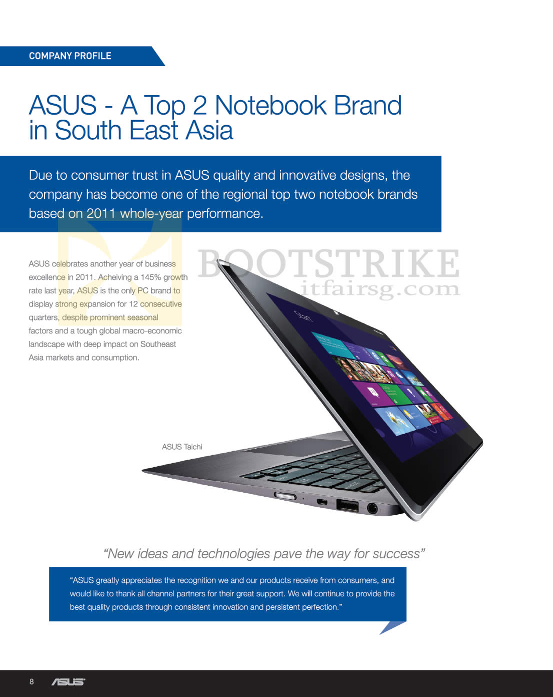 SITEX 2012 price list image brochure of ASUS Notebooks Top 2 Notebook Brand In South East Asia