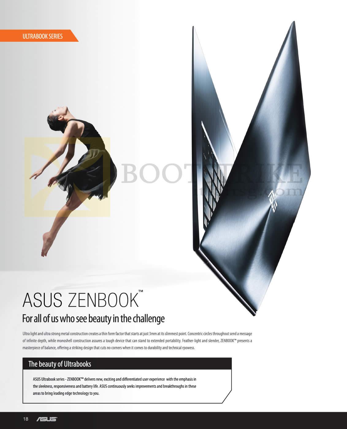 SITEX 2012 price list image brochure of ASUS Notebooks Zenbook Ultrabook Features