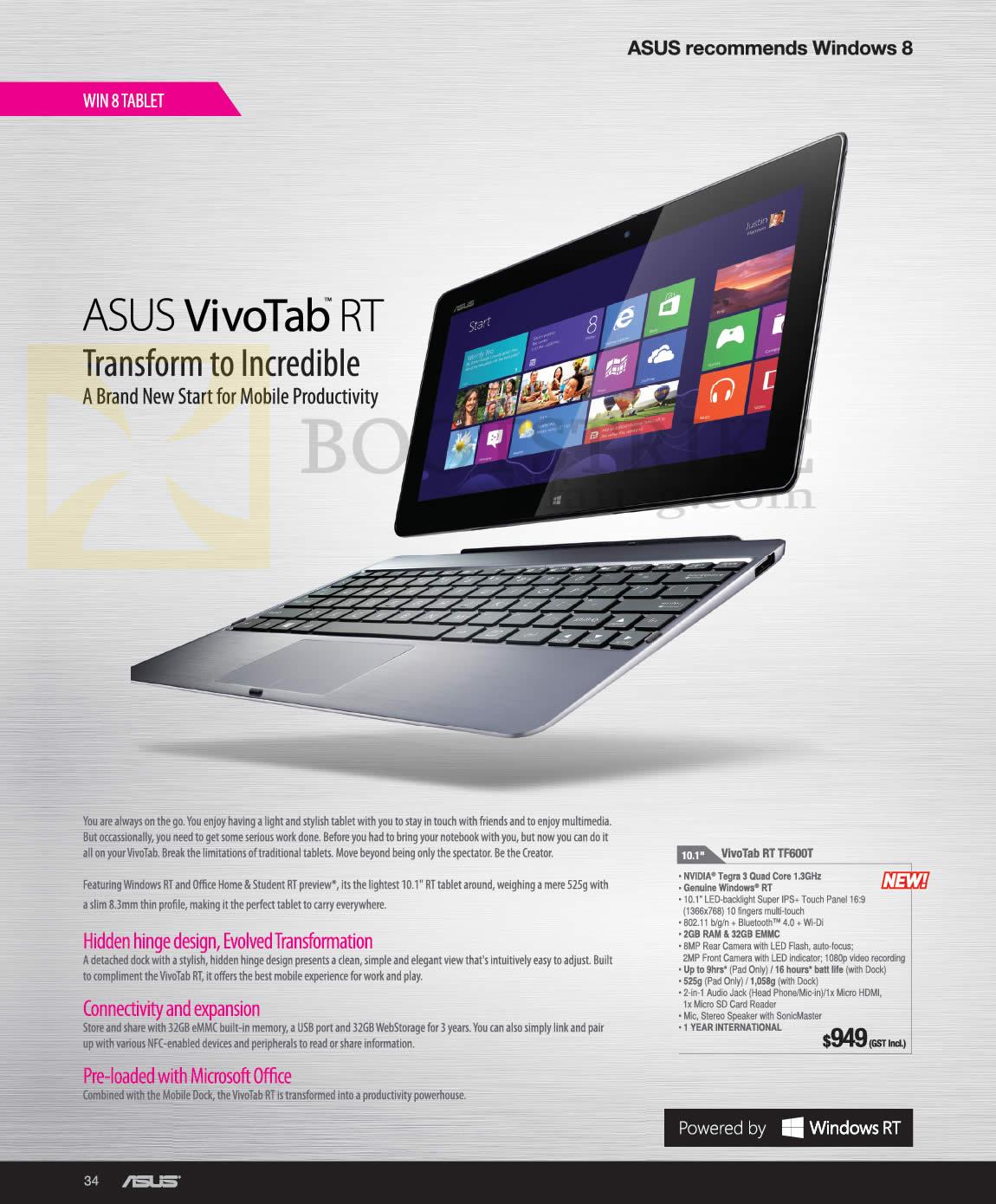 Kết quả hình ảnh cho ASUS Vivo Tab TF600T