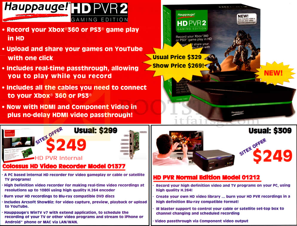 Ajvw Hauppauge HD PVR 2 Gaming Edition Xbox PS3 Gameplay