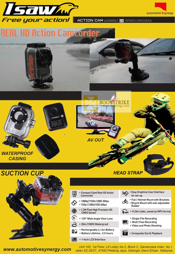 SITEX 2012 price list image brochure of Allbright Isaw Car Video Recorder Features