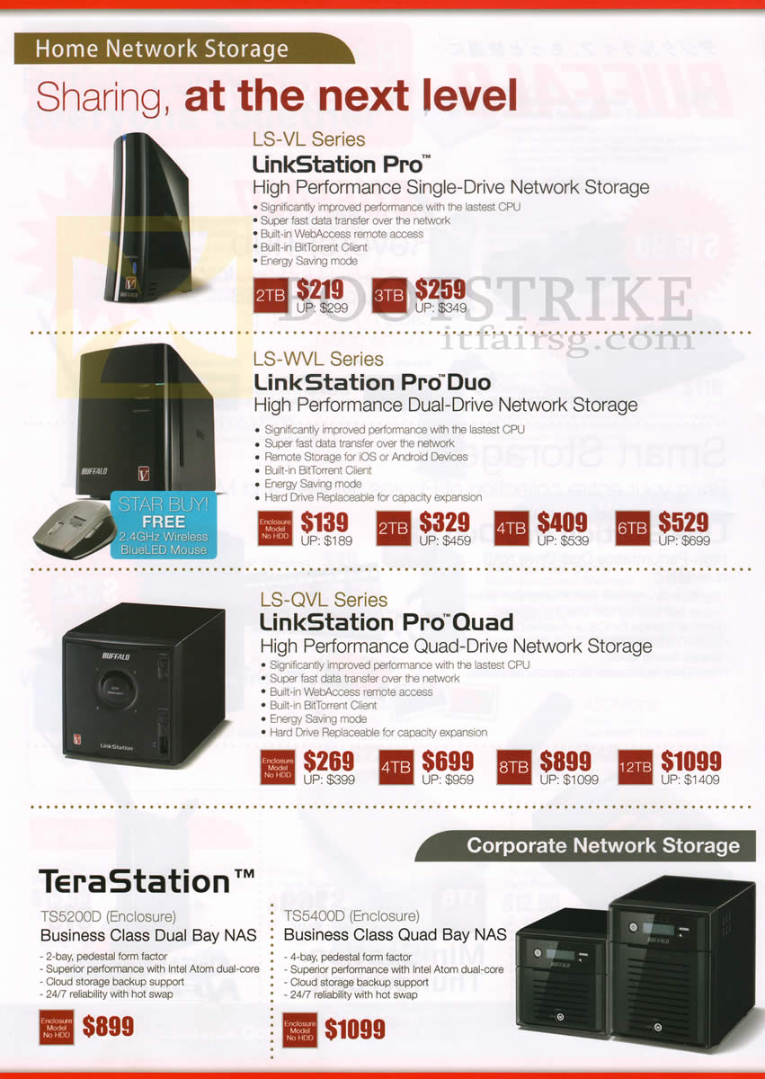 Buffalo NAS Home Network Storage LinkStation Pro LS-VL, Pro