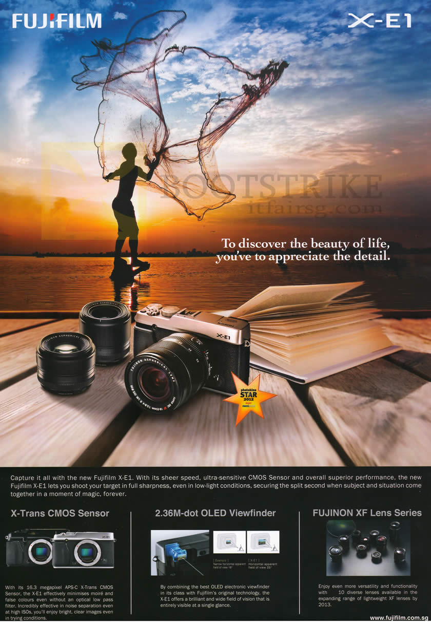 SITEX 2012 price list image brochure of Fujifilm Digital Camera X-E1