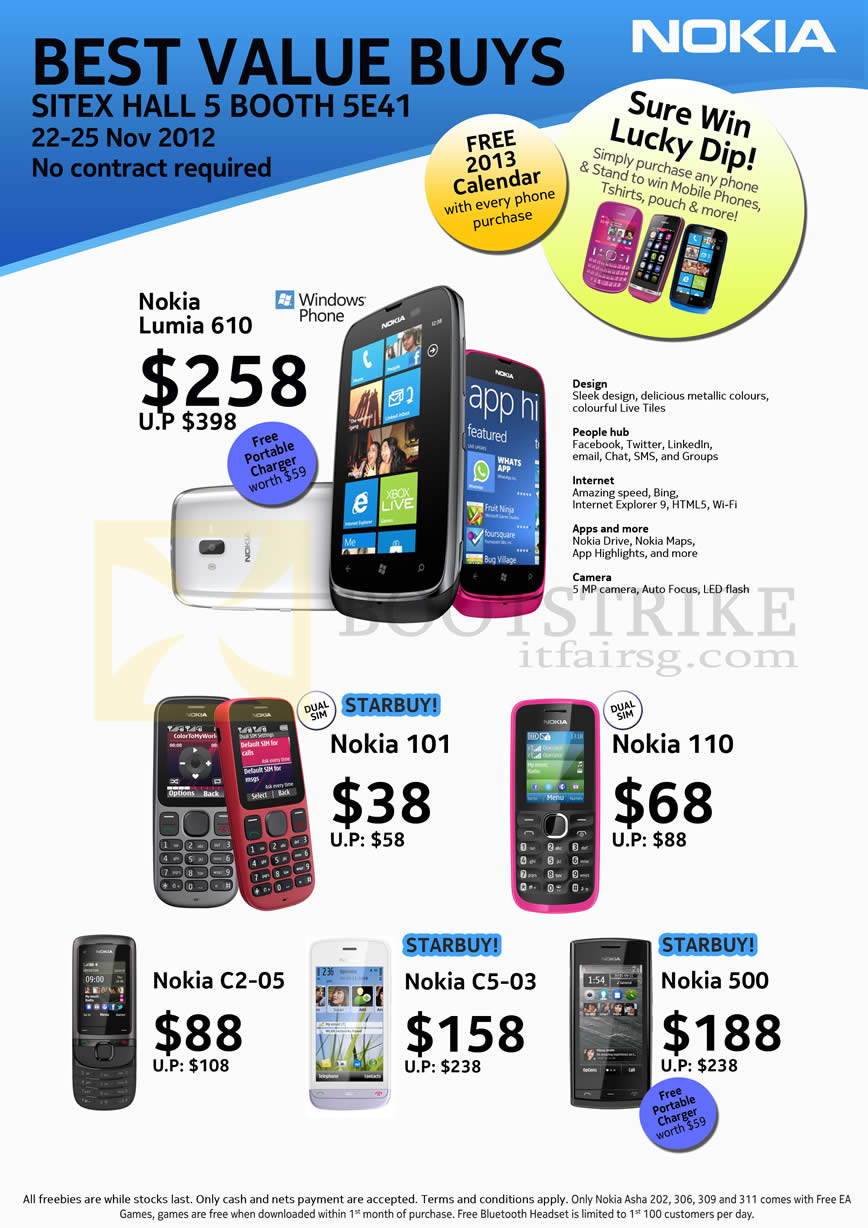 SITEX 2012 Price List Image Brochure Of Jim Rich Mobile Phones Nokia Lumia 610