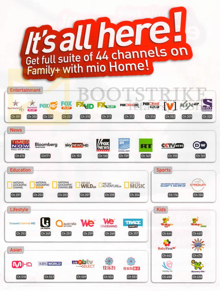 singtel mio home channels entertainment news education