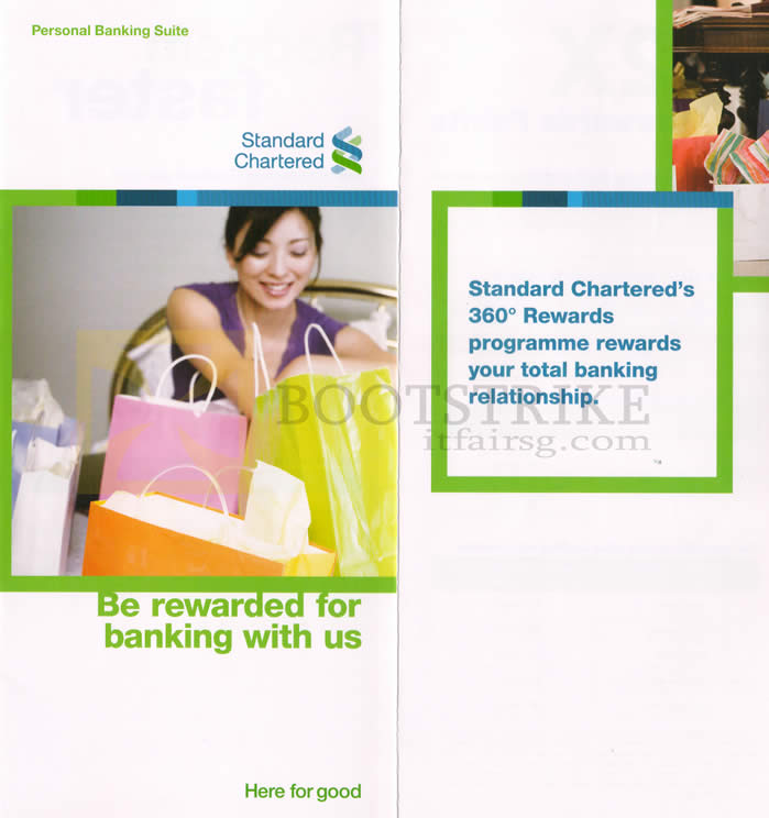 SITEX 2012 price list image brochure of Standard Chartered Credit Card 360 Rewards Programme