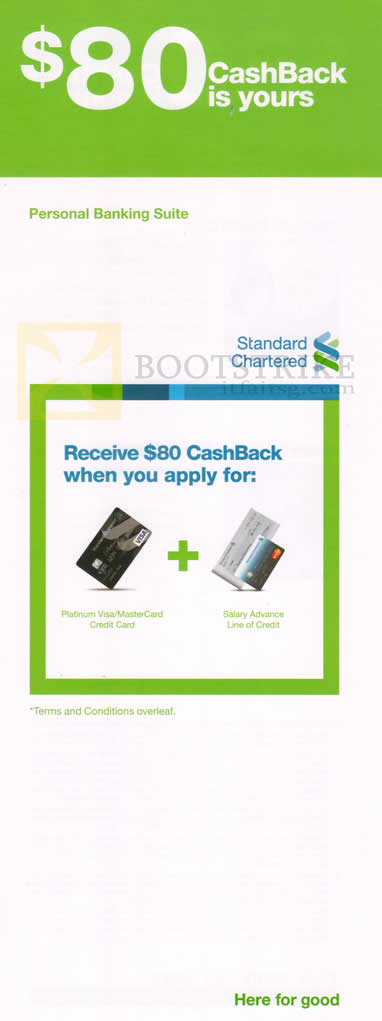 SITEX 2012 price list image brochure of Standard Chartered Credit Card Free 80 Dollar Cashback