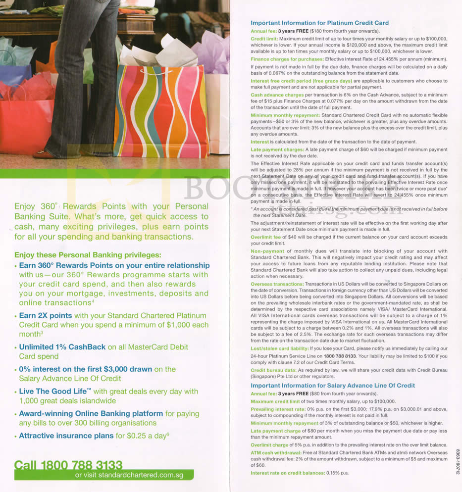 Standard Chartered Credit Card Personal Banking Privileges
