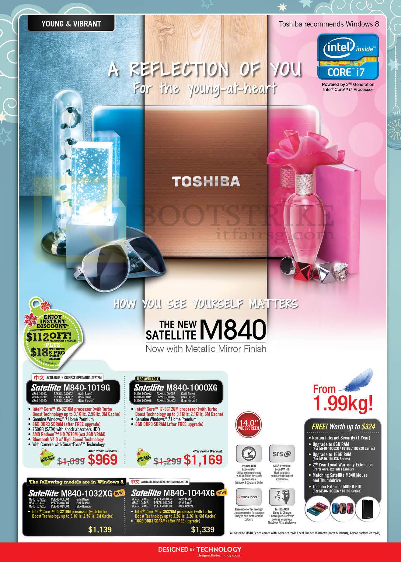 SITEX 2012 price list image brochure of Toshiba Notebooks Satellite M84-1019G, M840-1000XG, M840-1032XG, M840-1044XG
