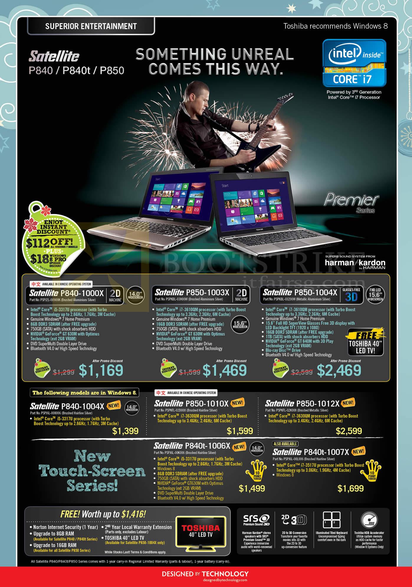 SITEX 2012 price list image brochure of Toshiba Notebooks Satellite P840-1000X, P840t-1006X, P840t-1007X, P850-1003X, P850-1004X, P850-1010X, P850-1012X
