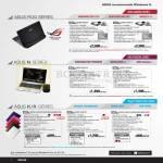 Notebooks ROG SERIES G55VW-IX071V, G75VX-CV071H, N N56VZ-S3213V, N46VZ-V3058V, K K45VD-VX021H, A45VS-VX007H, K45VD-VX021V
