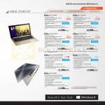 Notebooks Zenbook UX31A-R4005H, UX31A-R4003H, UX32VD-R3001H, UX32VD-R4002H, UX31E-RY009V024V029V, UX31E-RY010V026V