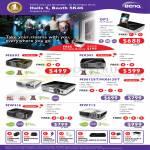 Benq Projectors GP2 Mini, MS502, MX501, MS612ST, MX613ST, MW516, MW712