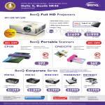 Benq Projectors W1100 W1200, CP100, Scanners CP60 CP70, MX763, MX761, MX812ST, MX880UST, MP780ST