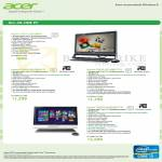 AIO Desktop PC Aspire Z5771 I212M45, ZS600 I347MR41T, ZS600 I37MR82TV, 7600U I363MR81TV