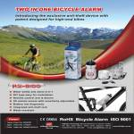 RS-B100 Bicycle Alarm Anti Theft Water Bottle