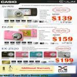 Digital Cameras EX-Z28, EX-ZS20, QV-R70