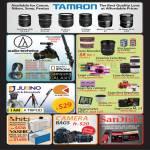 Red Dot Photo Tamron Lens, Audio Technica ATR DSLR ATH Mic Booms, Audio Monitor, Jusino Tripods Monopods, Hiti, Camera Bags, Accessories