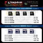Flash Memory MicroSDHC, SDHC