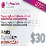 MyRepublic 30 Dollar Redemption, Hiti, Synology, Foscam 1